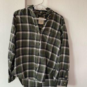 Green American Eagle Flannel